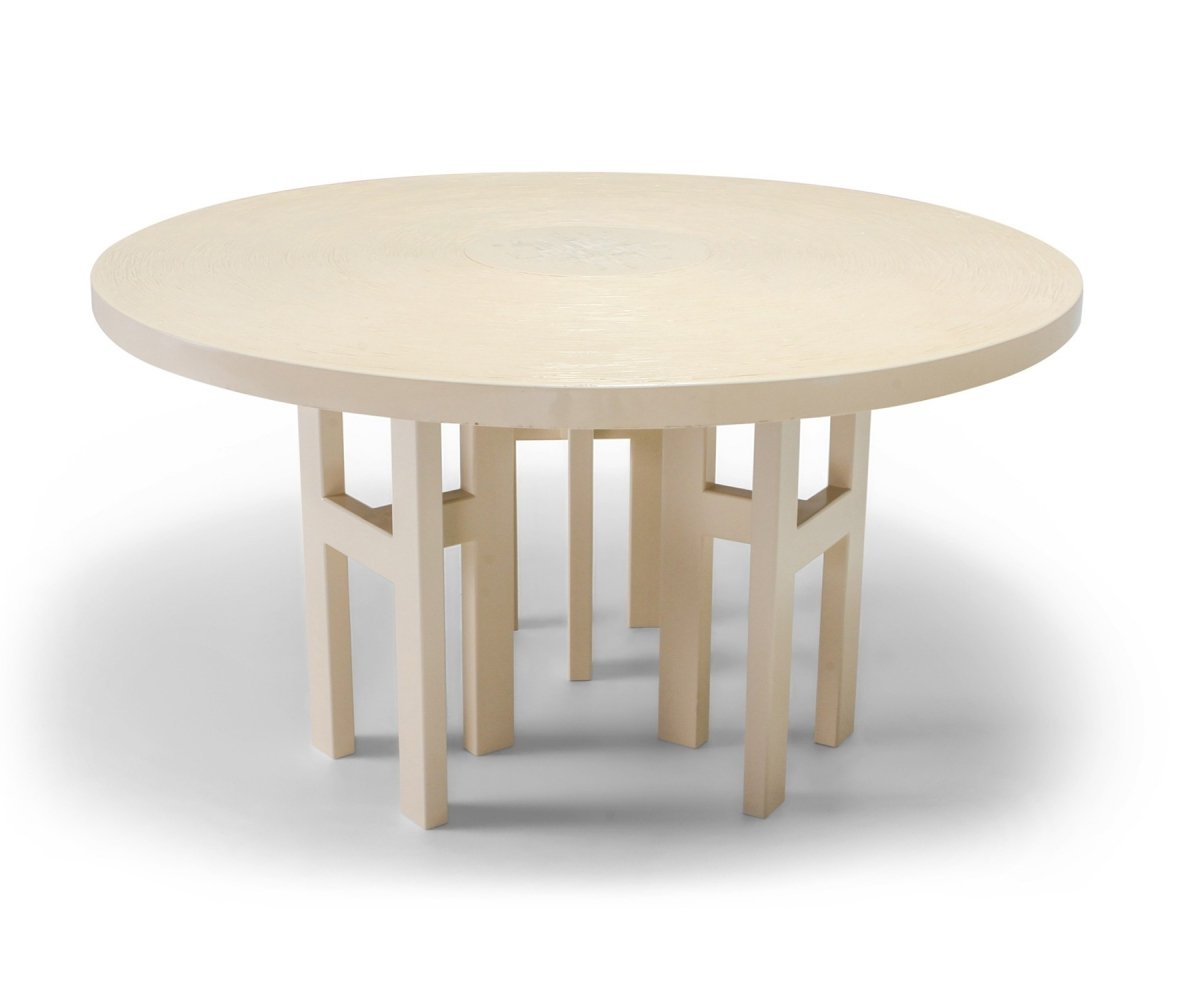 Exceptional Resin Dining Table by Jean Claude Dresse, 1970s