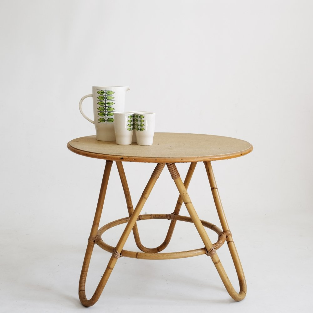 French rattan coffee table from the sixties