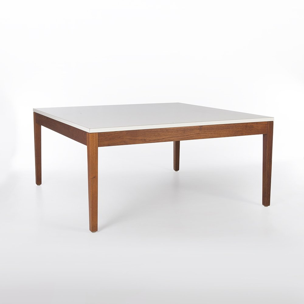 White Herman Miller Original Vintage George Nelson 5752 Square Coffee Table