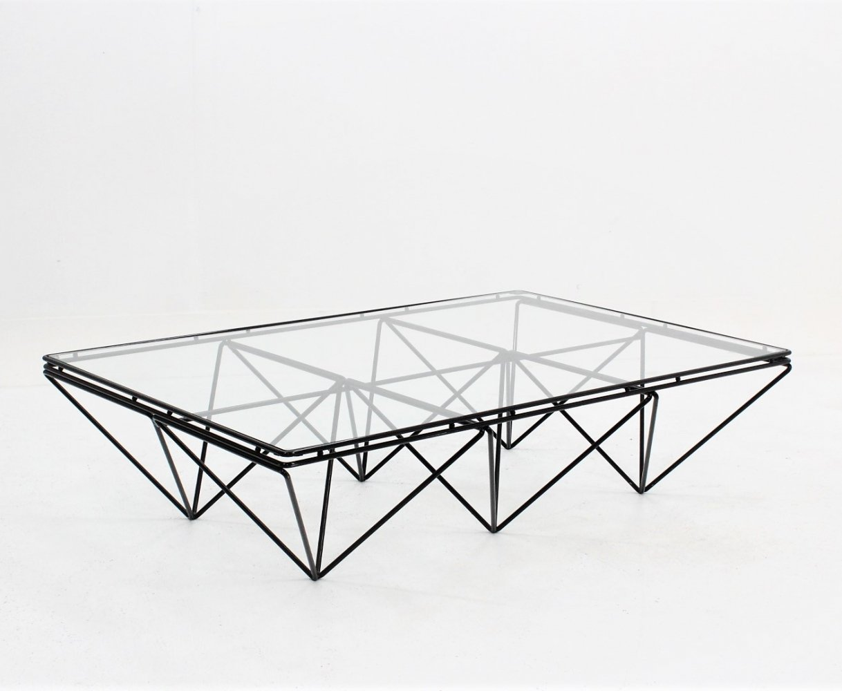 Vintage geometric coffee table, Italy 1970s