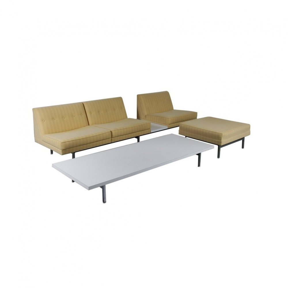 George Nelson Sofa, Ottoman & Coffee Table for Herman Miller, USA 1960s
