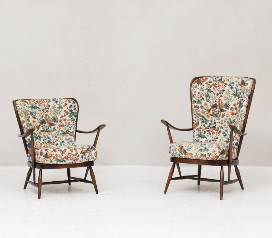 Set of Windsor armchairs by Lucian Randolph Ercolani for Ercol, UK 1956