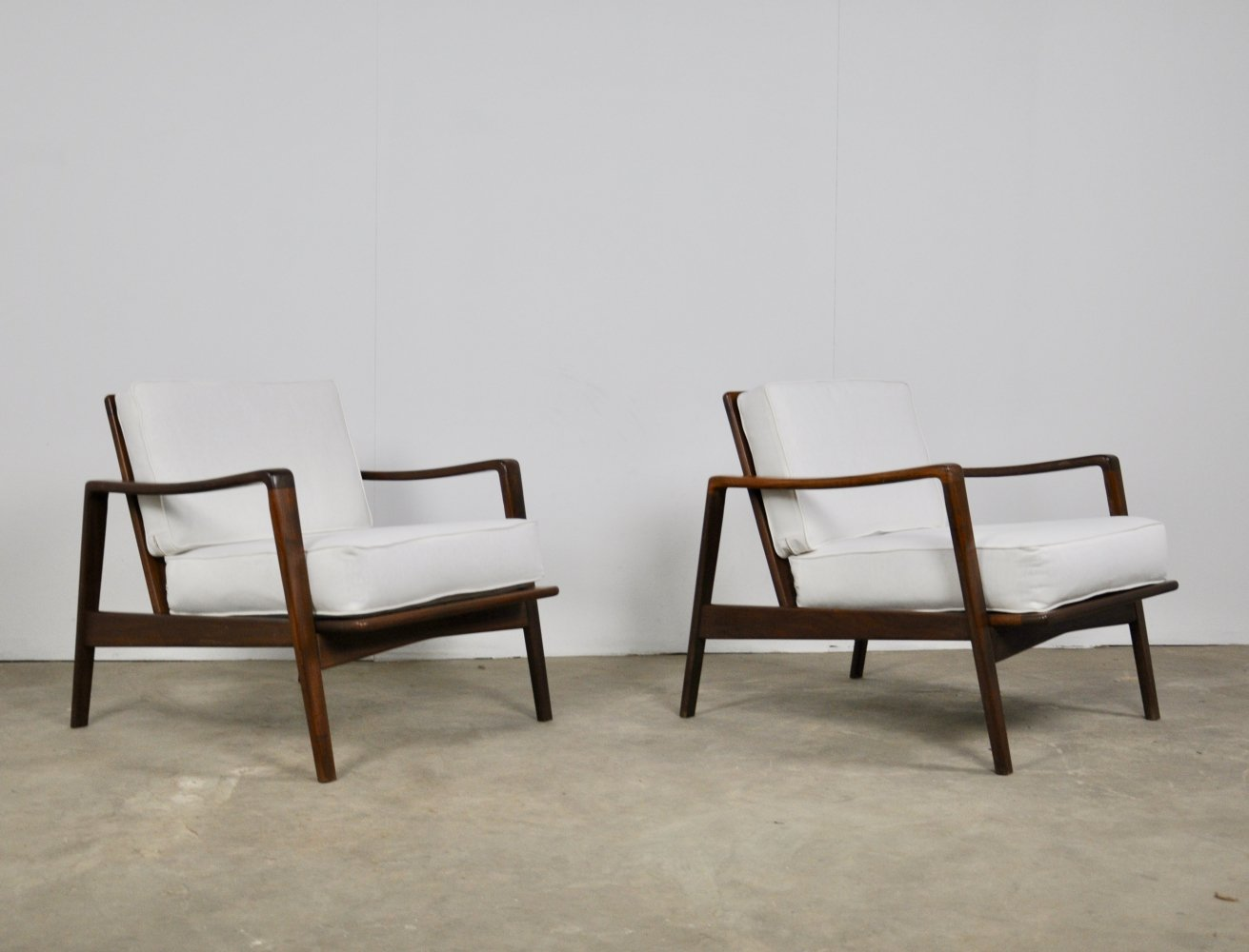 Pair of arm chairs by Arne Wahl Iversen for Komfort, 1960s