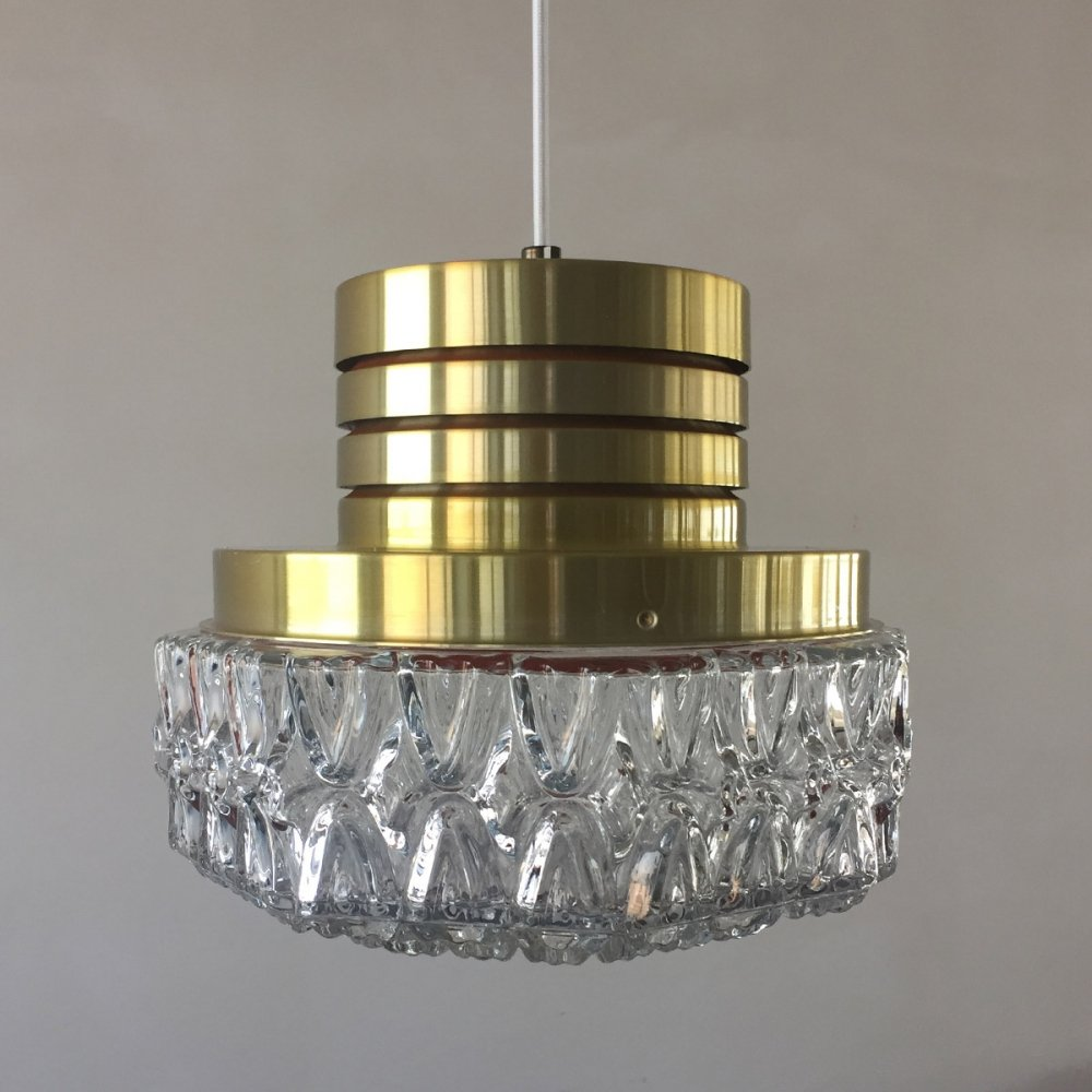 Pendant by Carl Fagerlund for Orrefors, 1960s