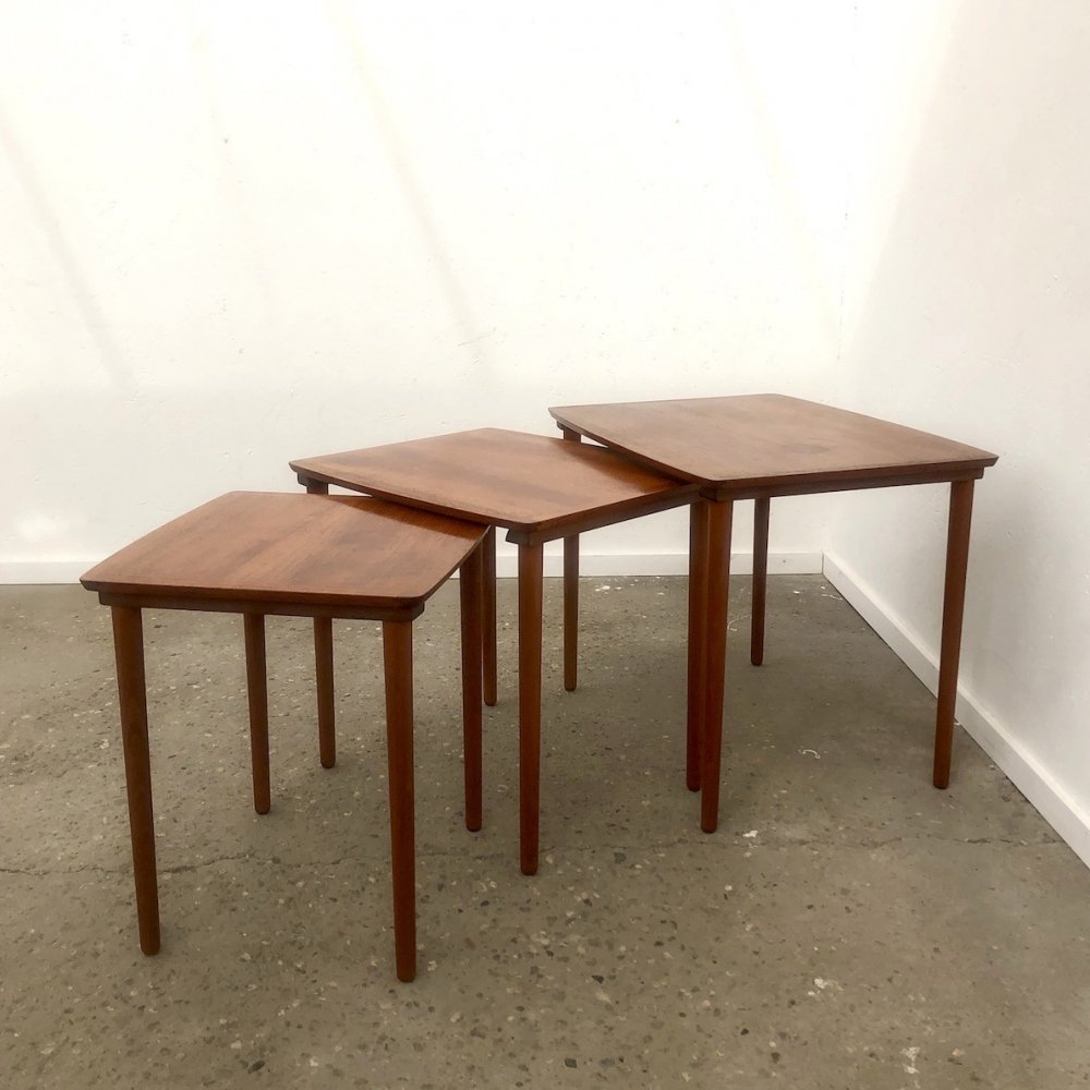 Danish nesting table set by Møbelintarsia, 1960s