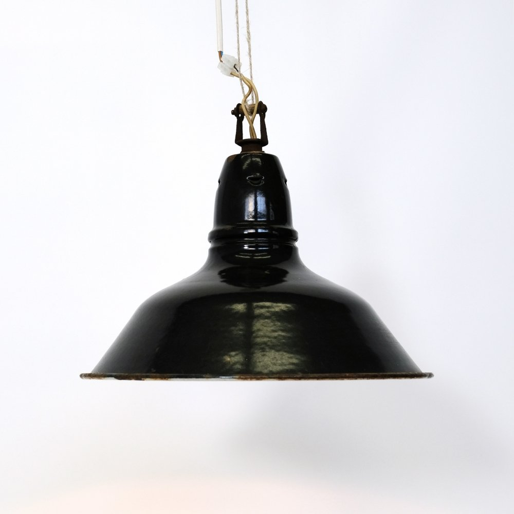 Little black industrial hanging lamp