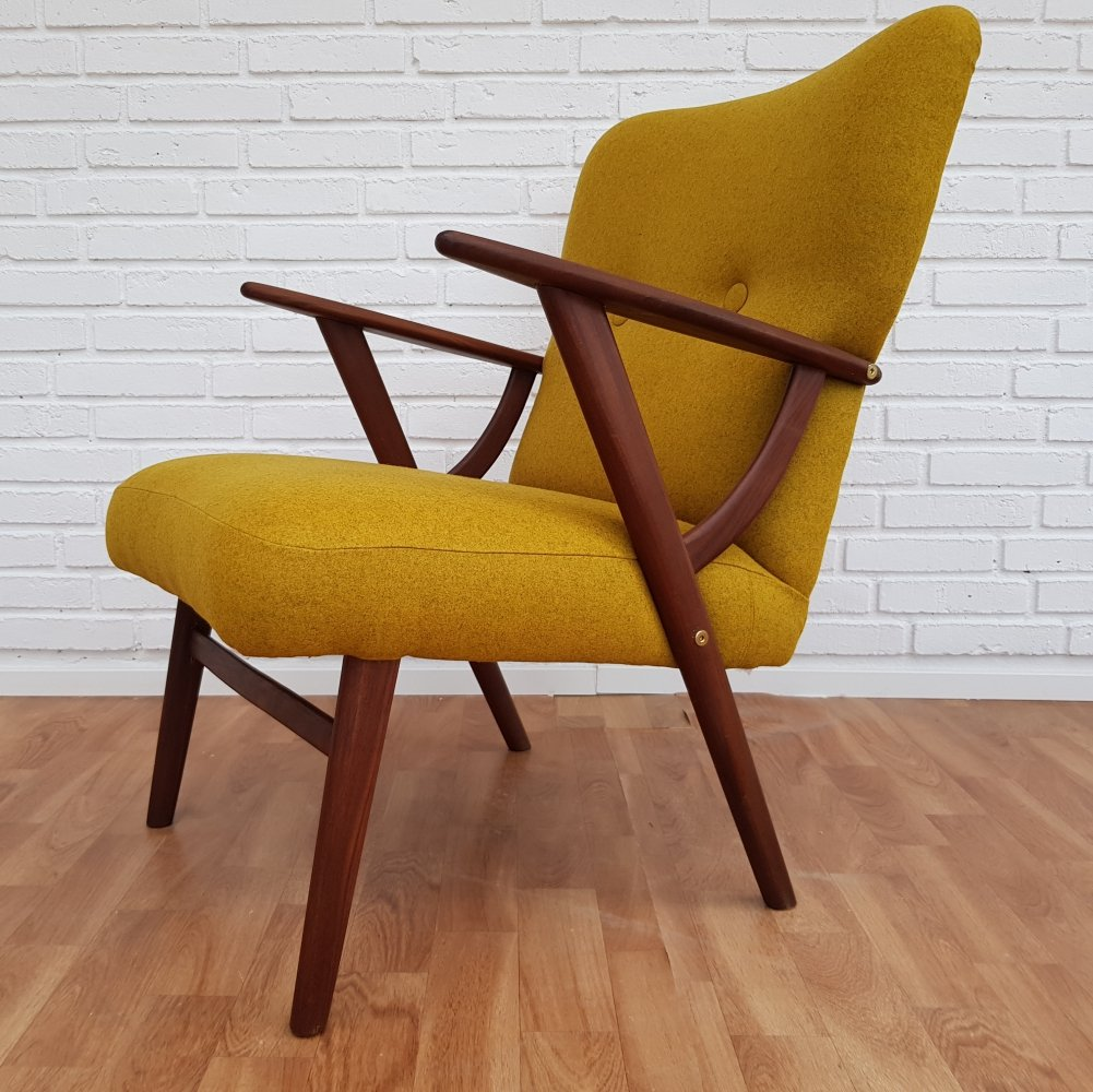 Danish Carry-Yellow Lounge Chair, 1950s