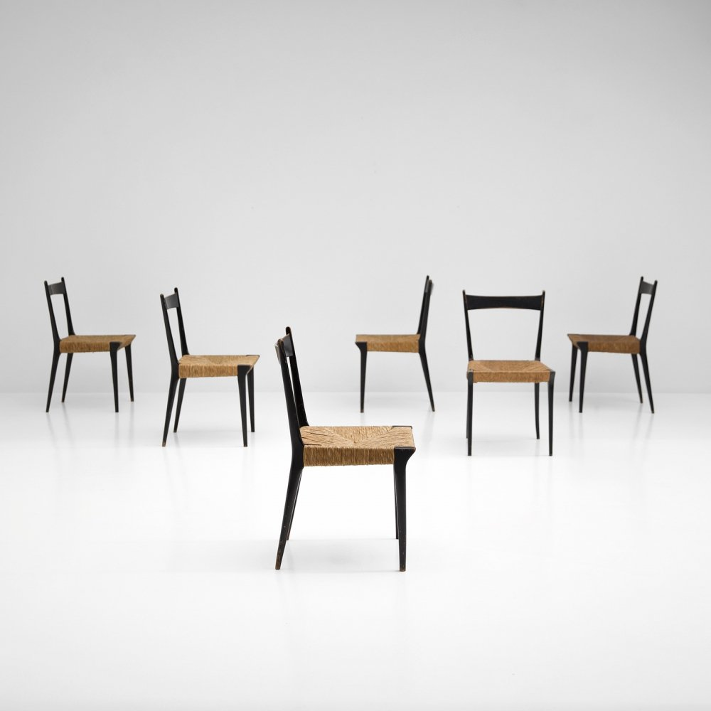 Set of S2 chairs is designed by Alfred Hendrickx in 1958 for Belform