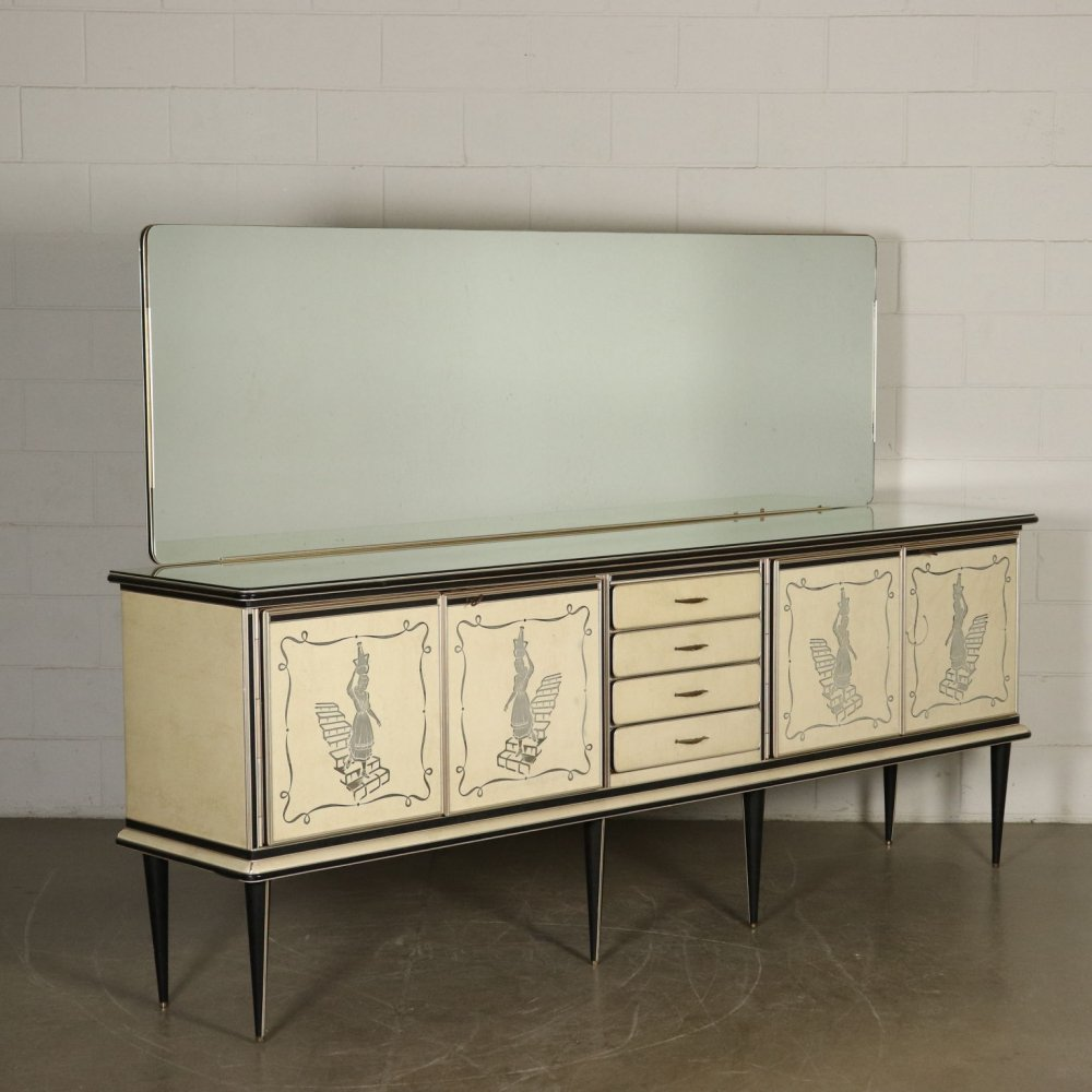 1960s Buffet with Mirror by Umberto Mascagni