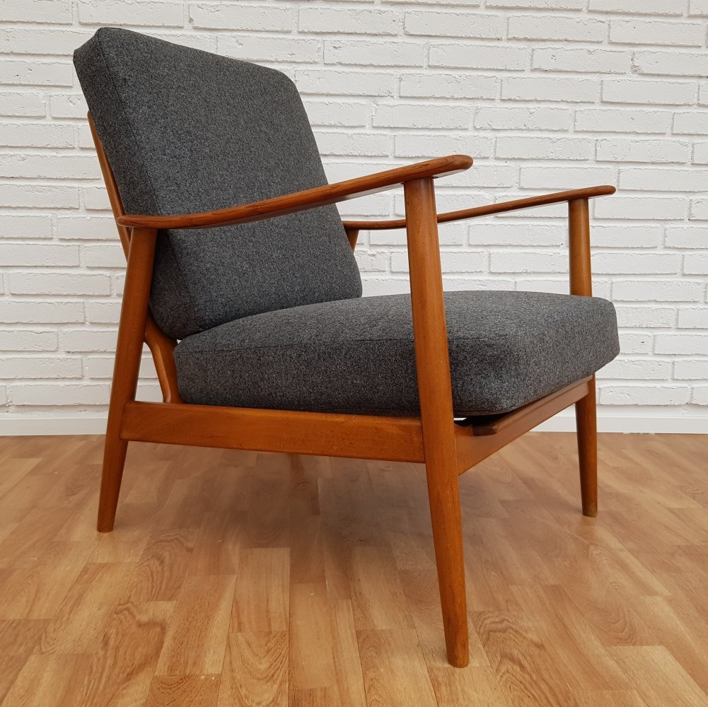 Danish armchair with loose cushions, 1960s