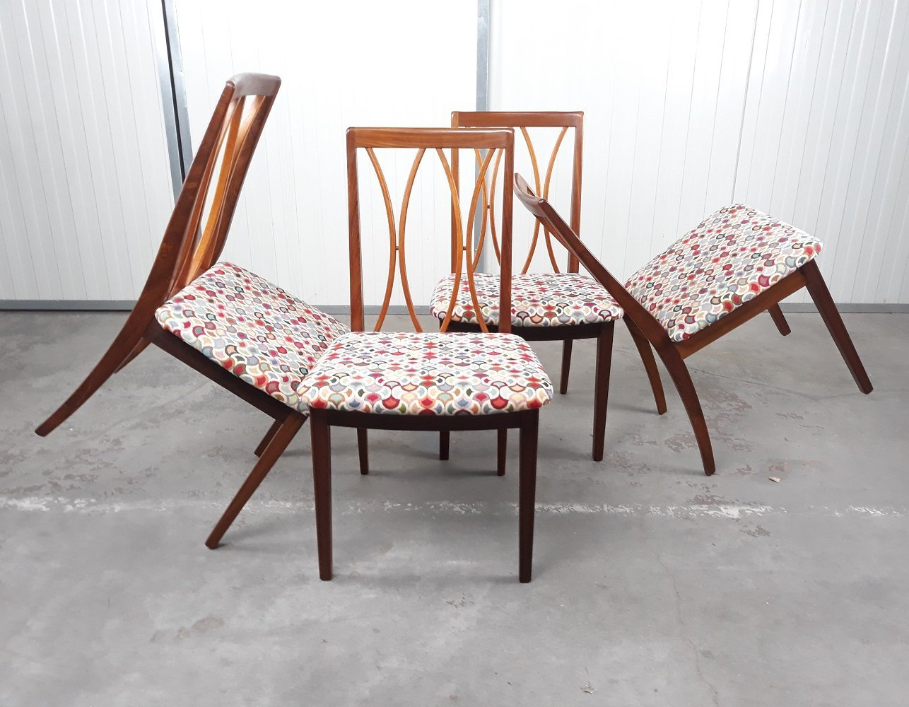 Set of 4 dining chairs by Gplan, 1960s