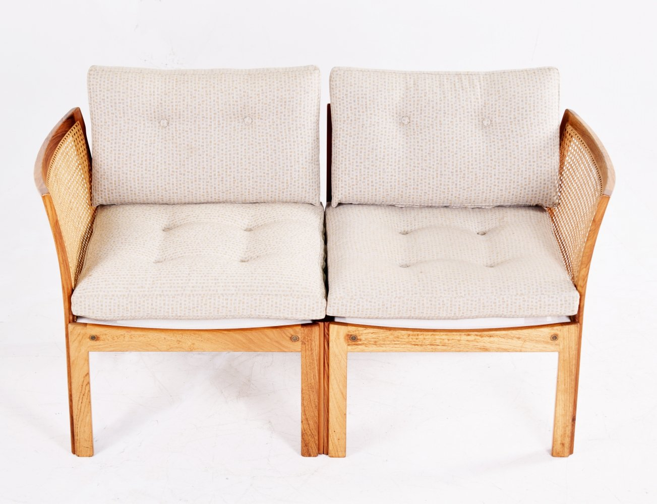 Illum Wikkelso Plexus rosewood two-seater sofa for CFC, 1960s