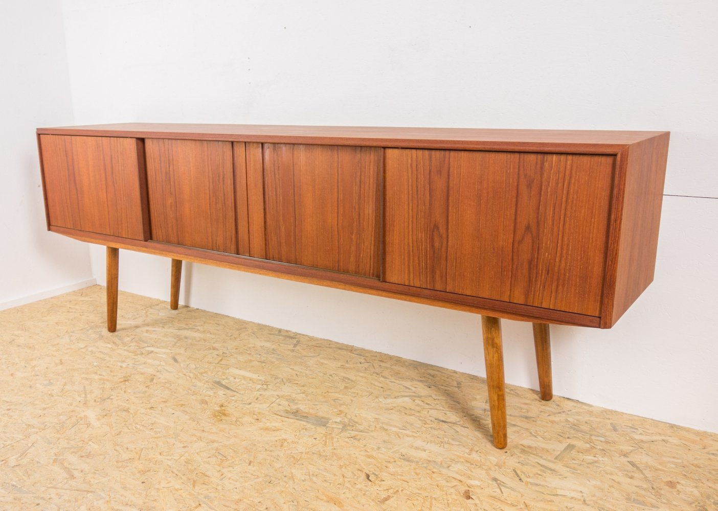 Teak sideboard by EW Bach for Sejling Skabe, 1960s