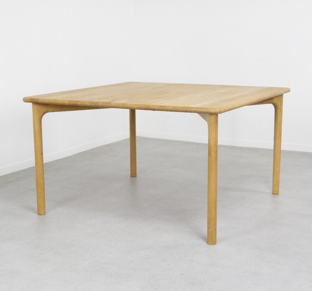 Extendable dining table in solid oak by Niels Otto Møller for Gudme, DK 1960s