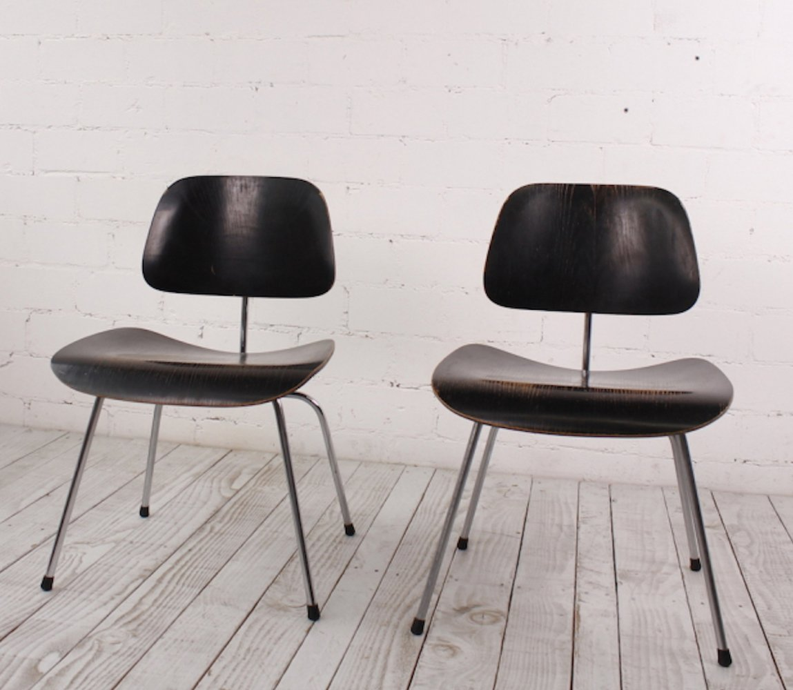 2 x DCM Chair by Ray & Charles Eames for Herman Miller