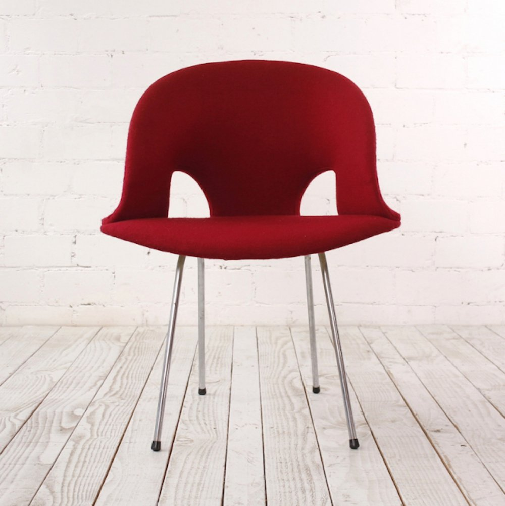Vintage Side Chair by Prof. Arno Votteler for Walter Knoll