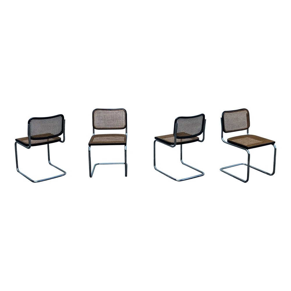 Set of 4 Marcel Breuer B32 Cesca Dining Room Chairs for Gavina Knoll, 1963