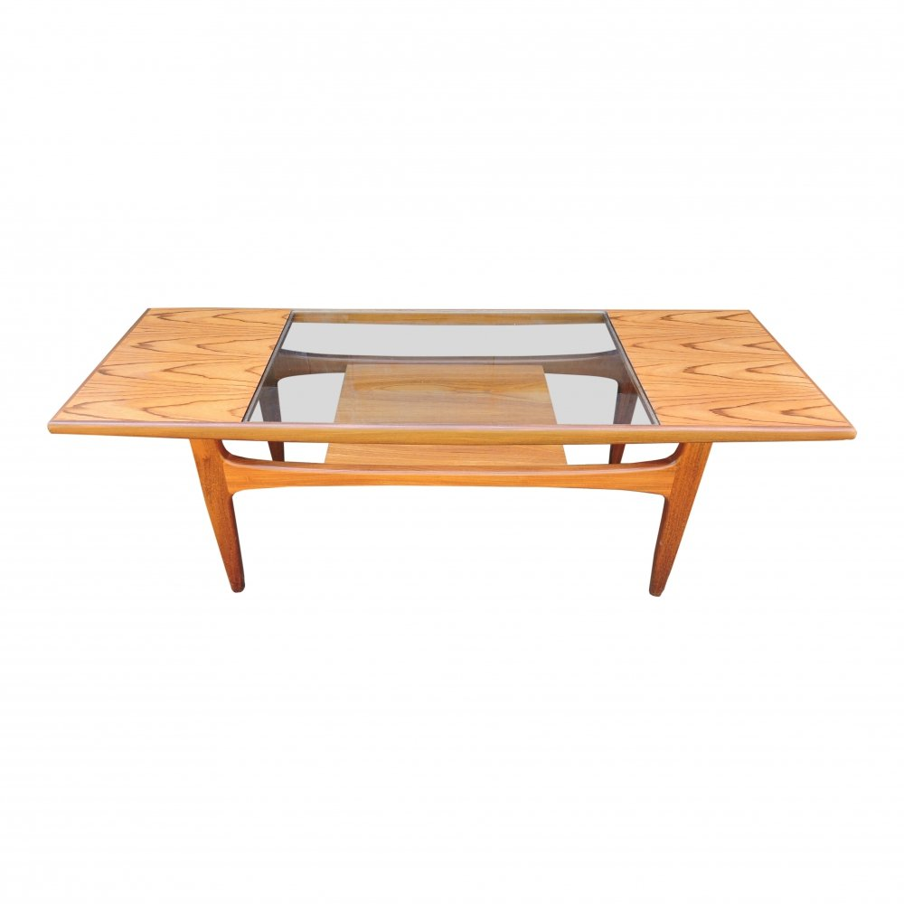 Teak & Glass Coffee Table by Victor Wilkins for G-Plan, 1960s