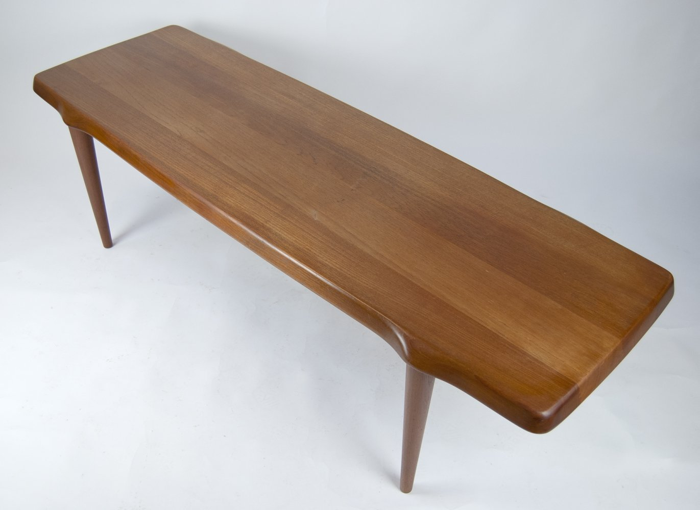 Solid Teak Coffee Table by John Bonè for Mikael Laursen, 1960s