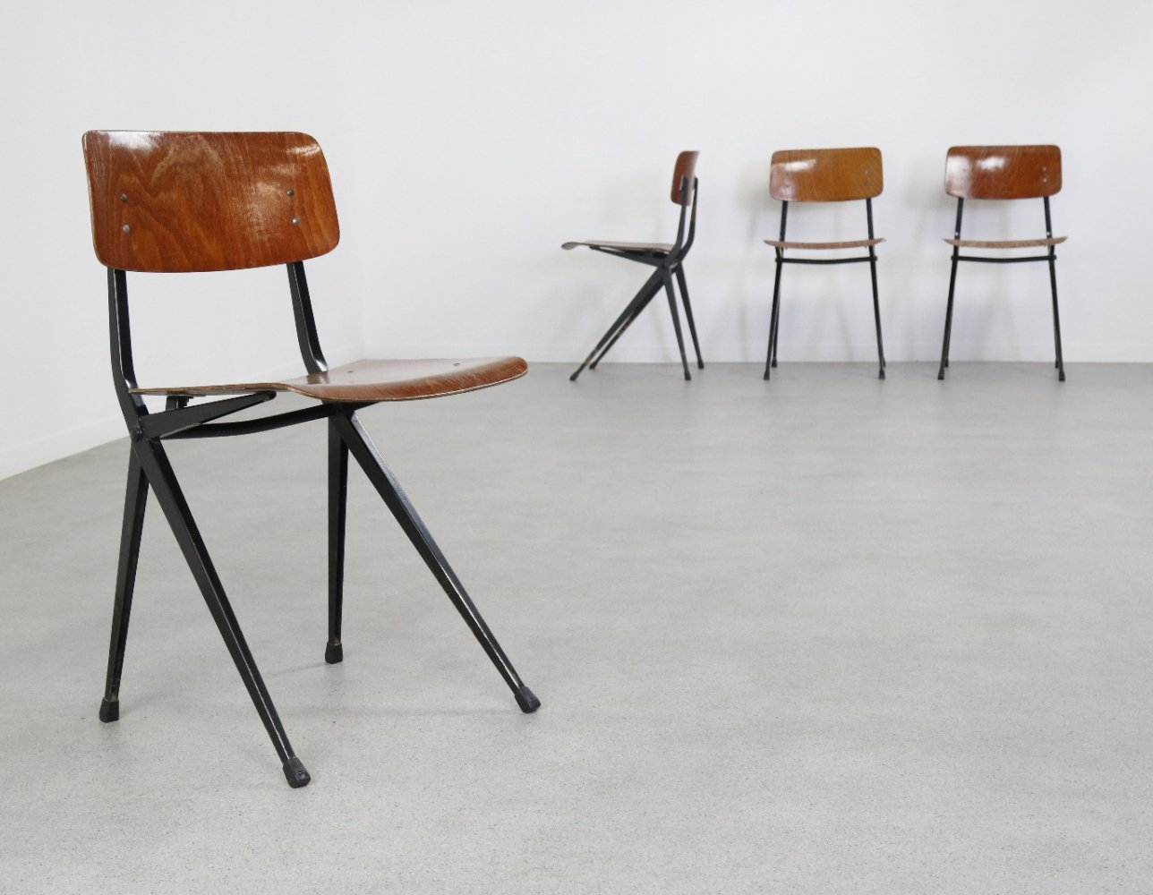Set of 4 dining chairs by Ynske Kooistra for Marko, 1960s