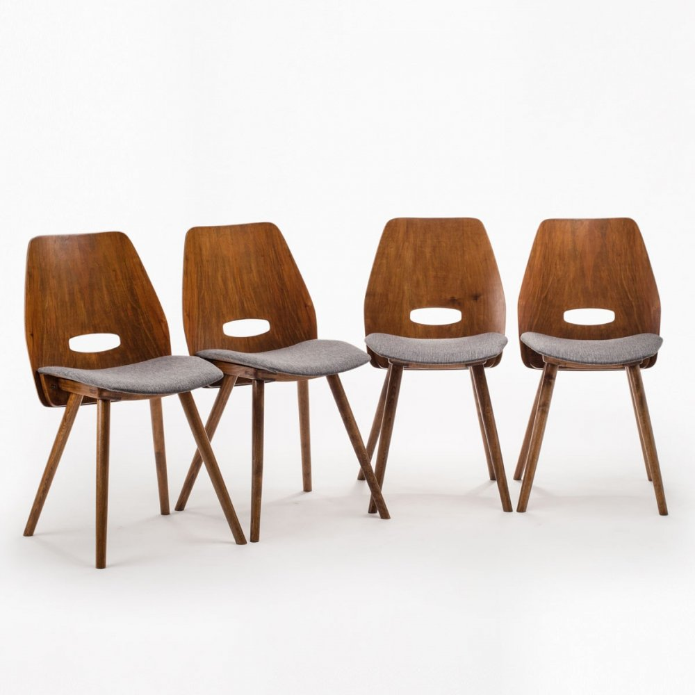 Set of 4 Tatra chairs by F. Jirak, 1960