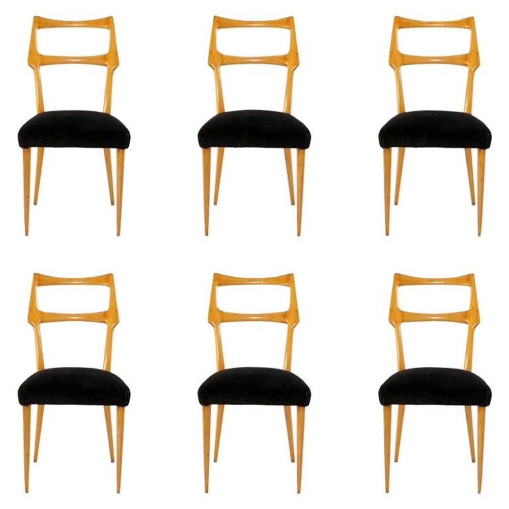 Set of 6 Midcentury Dining Chairs by Ico Parisi, Italy