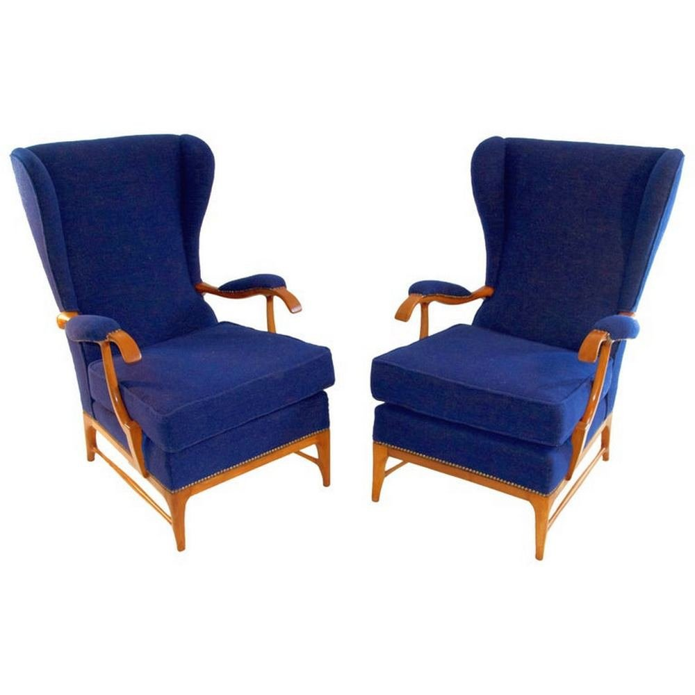 Pair of Armchairs by Paolo Buffa, Italy 1940s