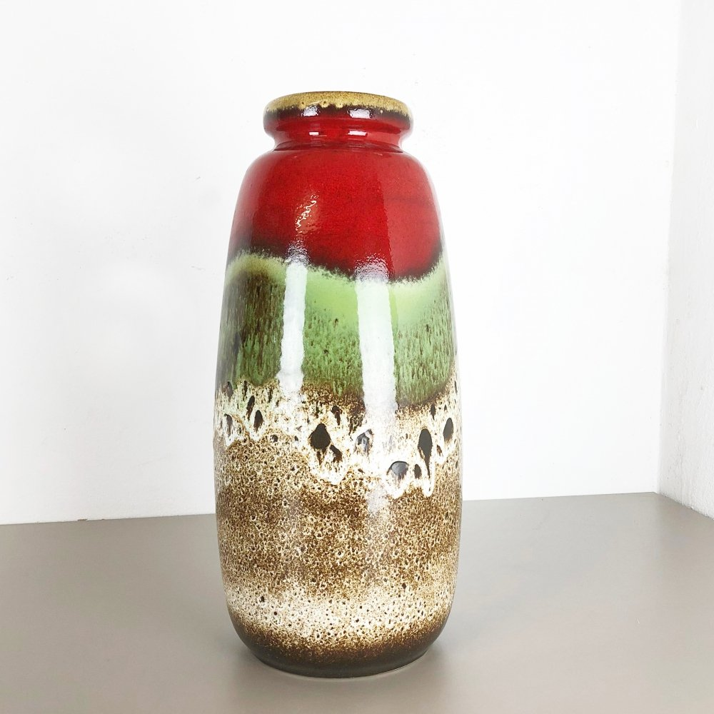 Large Pottery Fat Lava Multicolor 284-47 Vase by Scheurich, 1970s