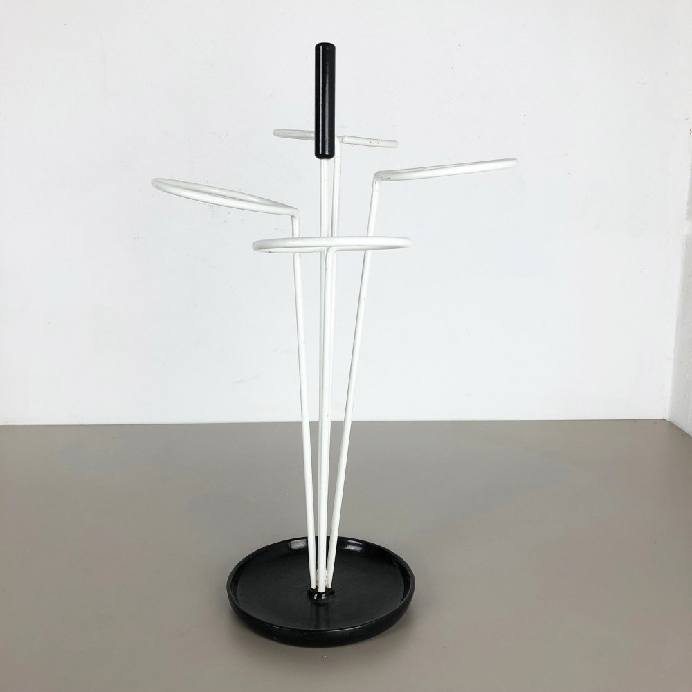Original Minimalist Metal Pop Art Umbrella Stand, Germany 1960s