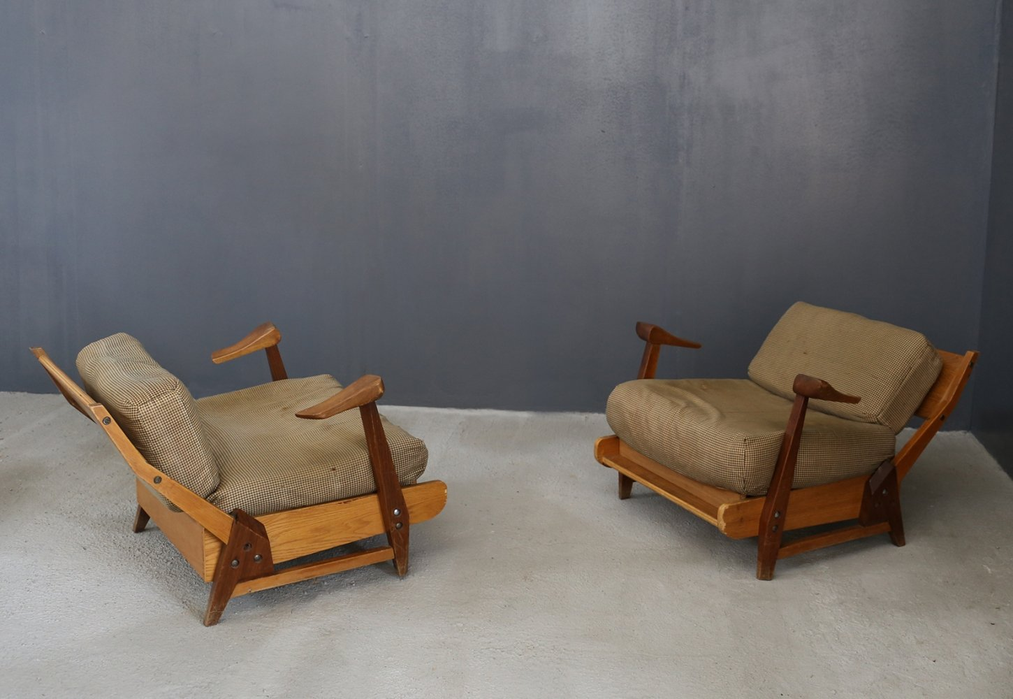 Pair of Brazilian armchairs by Guillerme et Chambron, 1950s
