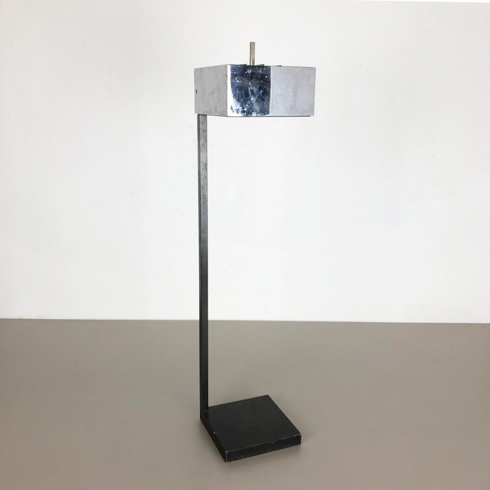 Original Modernist Cubic Metal Ashtray Stand, Germany 1960s