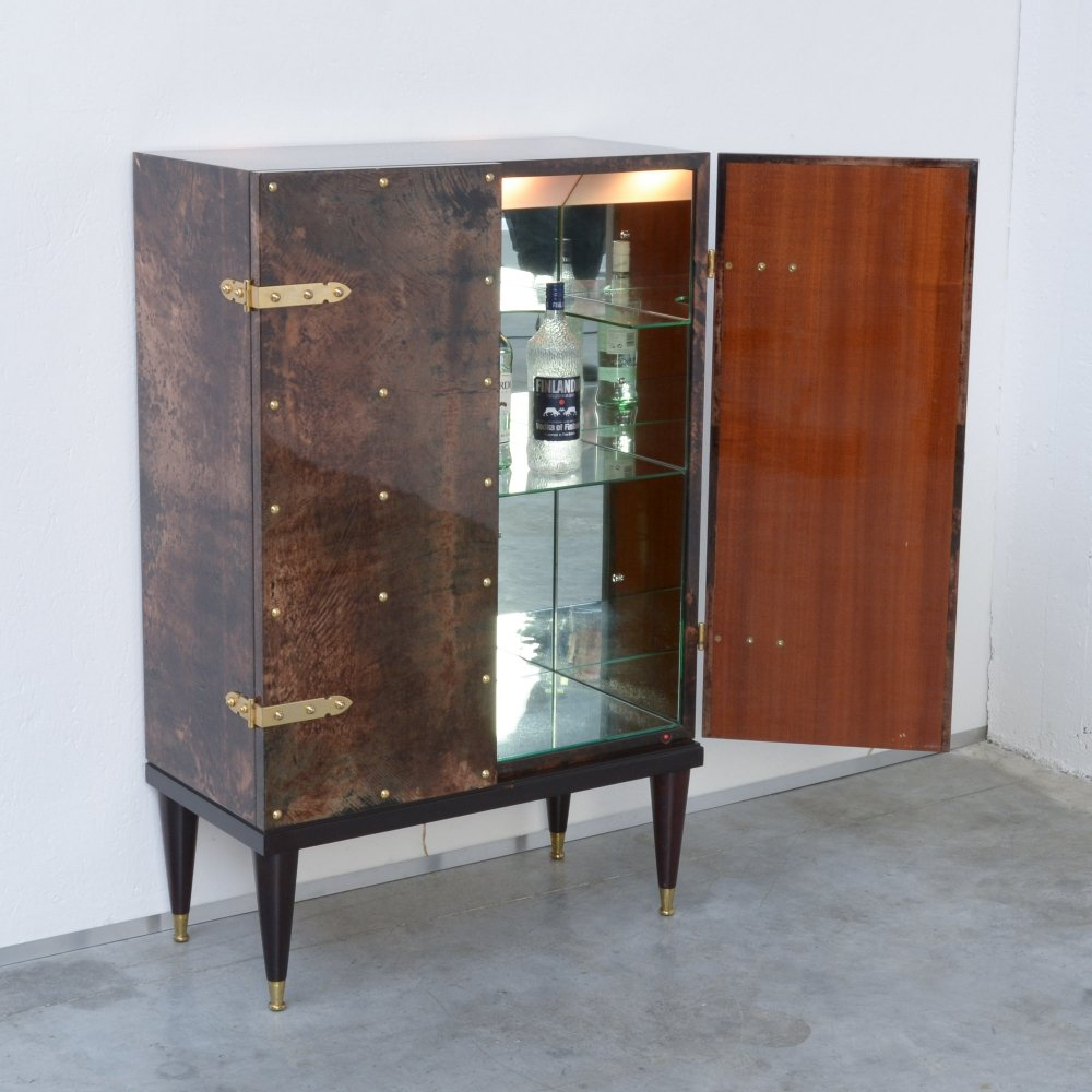 Elegant Bar Cabinet by Aldo Tura