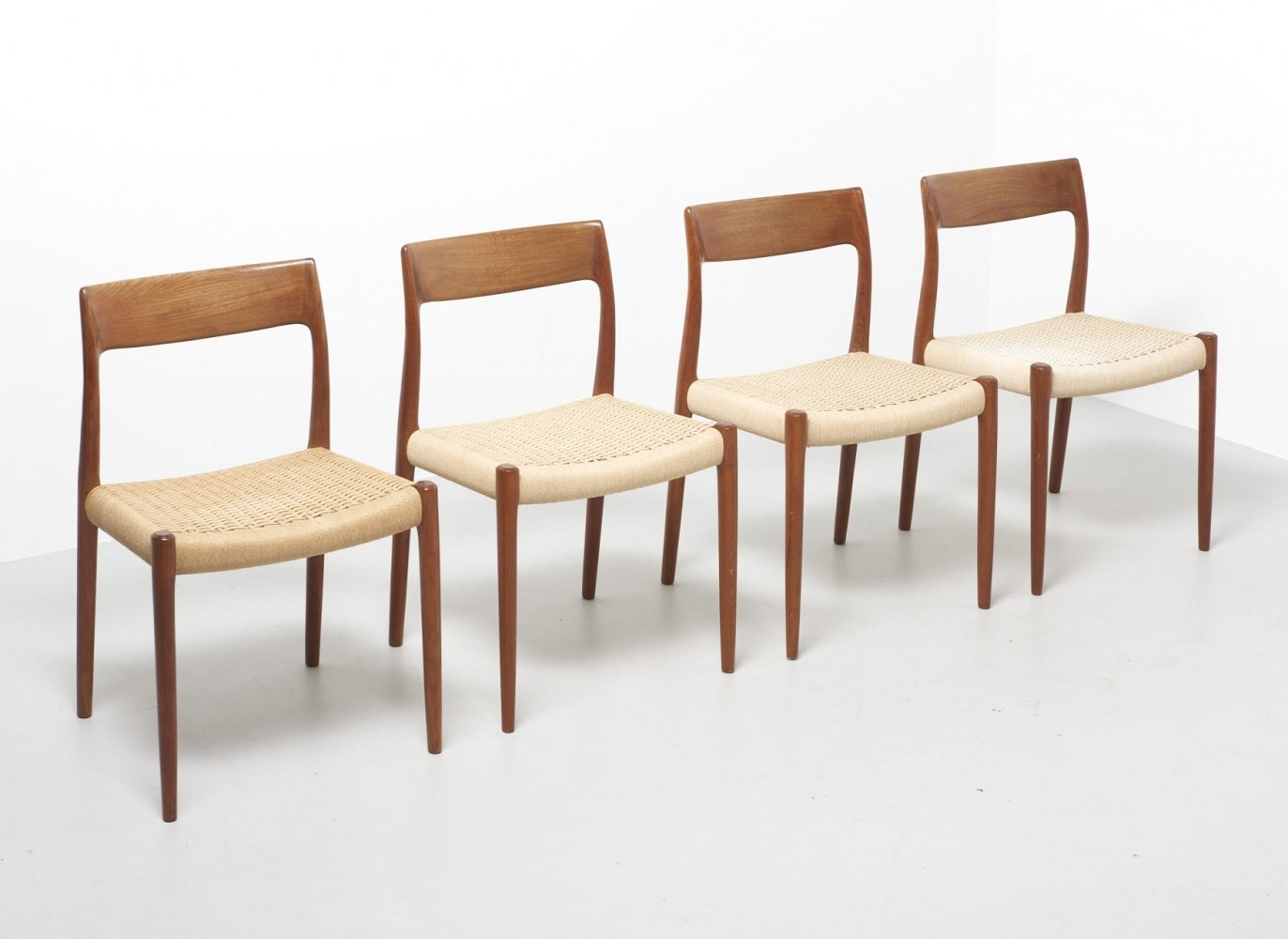 4 x model 77 papercord chairs by Niels O. Møller