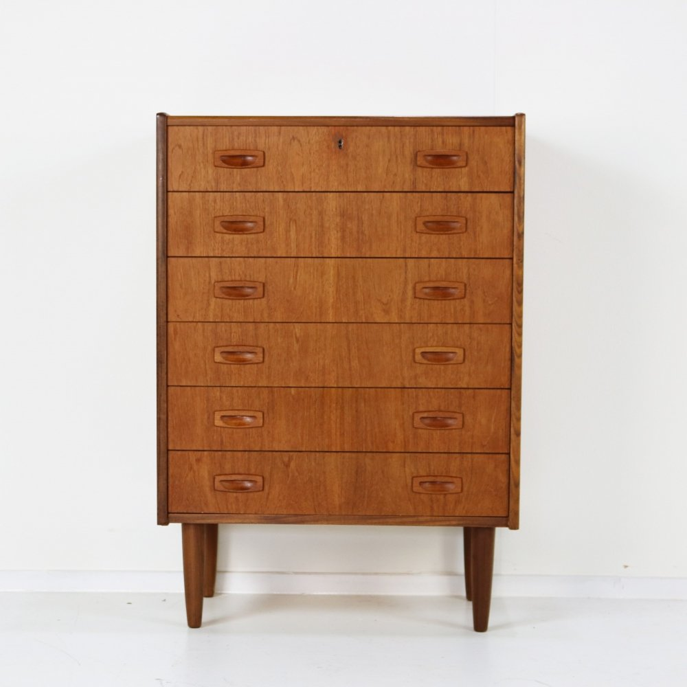 Danish design small chest of drawers
