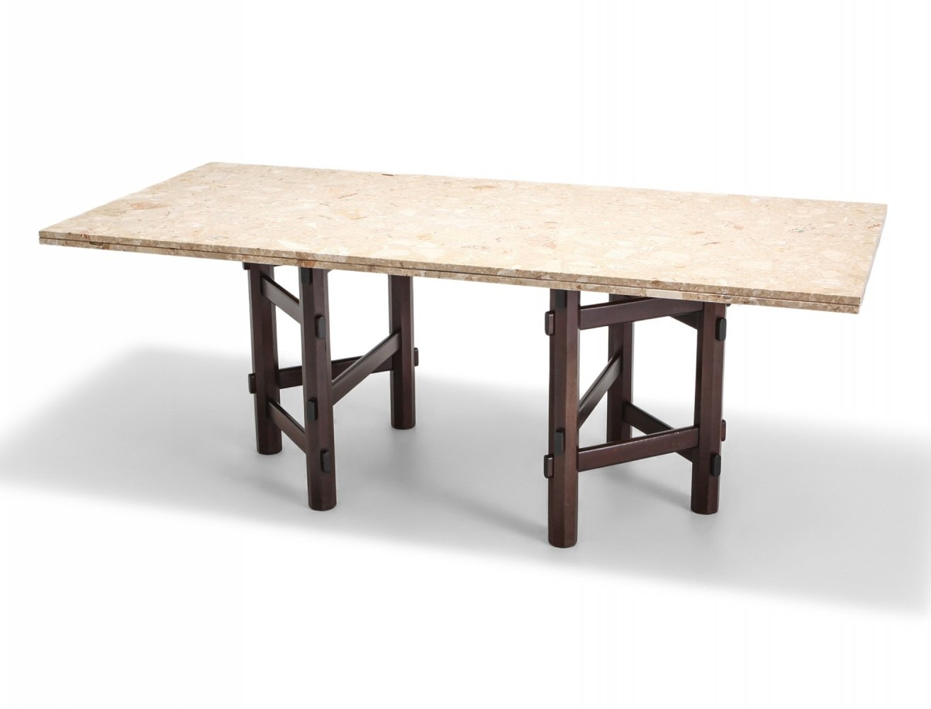 Modern Terazzo Marble Dining Table by Jan Vlug, Belgium 1970s