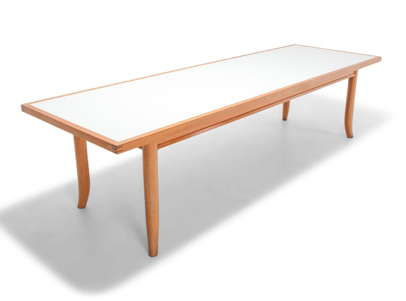 American Modern Oak Dining Table by Robsjohn Gibbings, 1970s