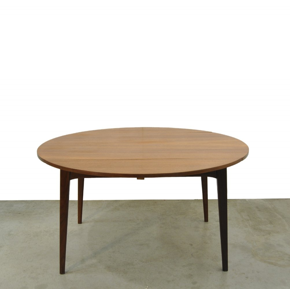 Vintage teak dining table by Louis van Teeffelen for Webe, 1960s