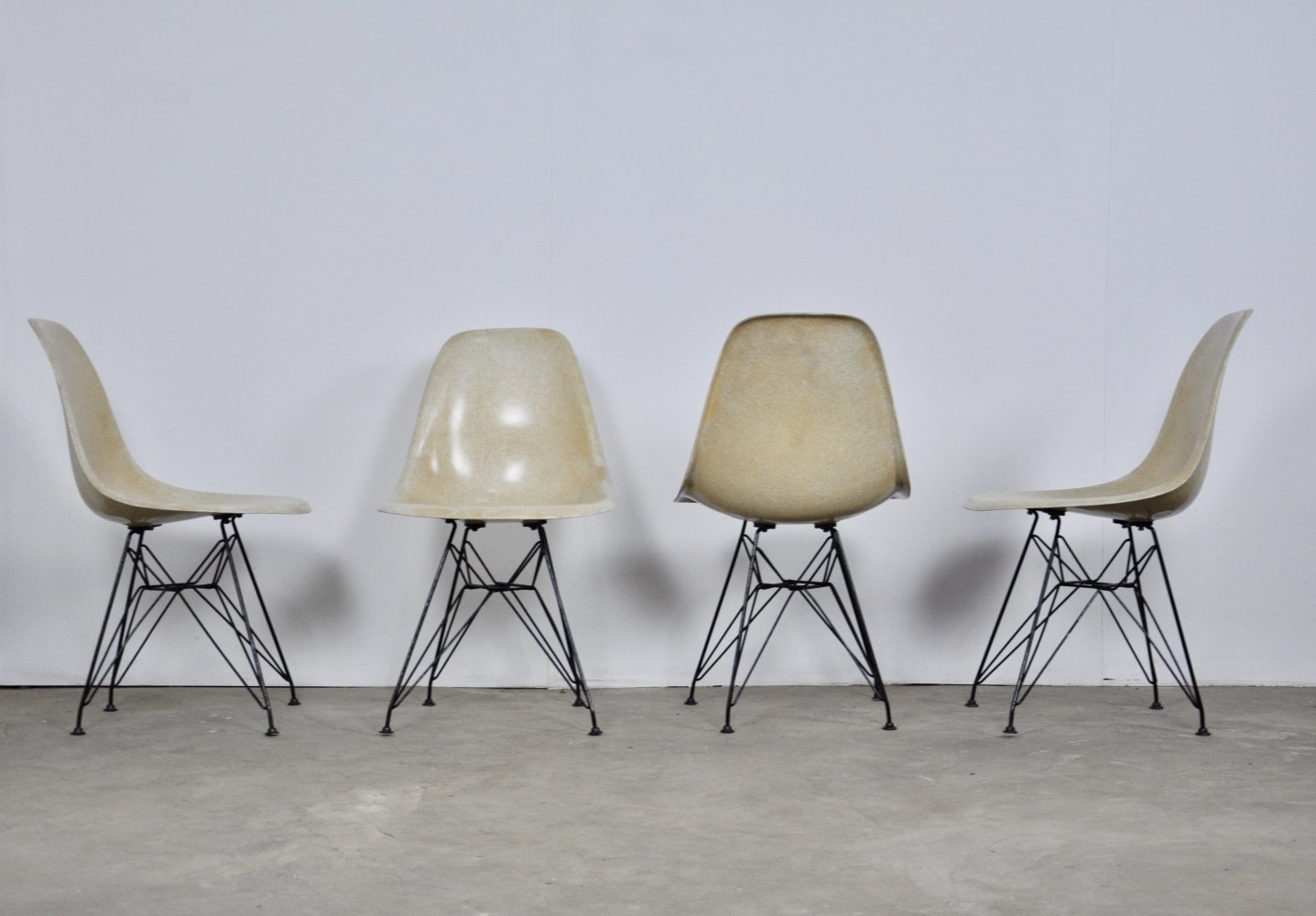 4 Eiffel Base Side Chairs by Charles & Ray Eames for Herman Miller