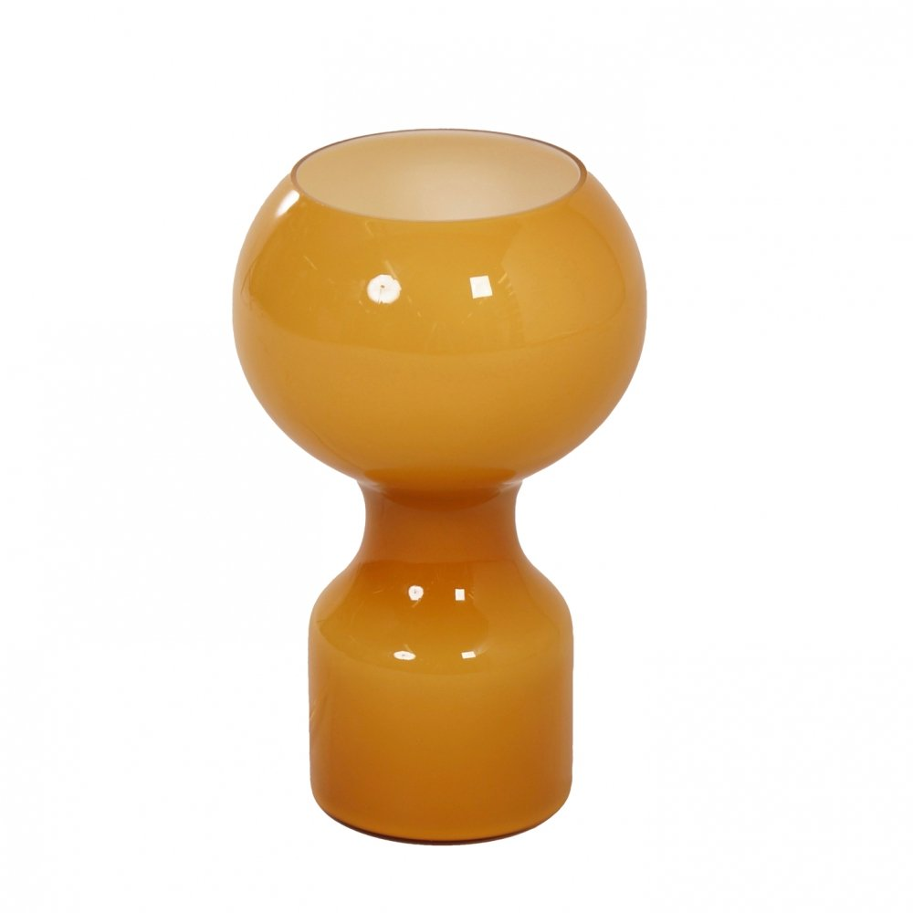 Glass Table Lamp in Ochreous by Jean-Paul Emonds-Alt for Philips, 1960s