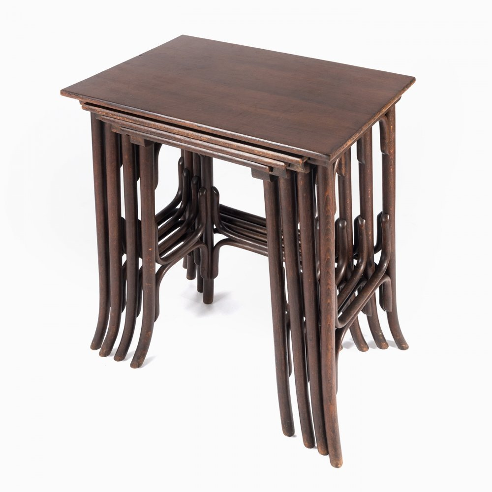 No. 10 nesting table by Thonet, 1920s