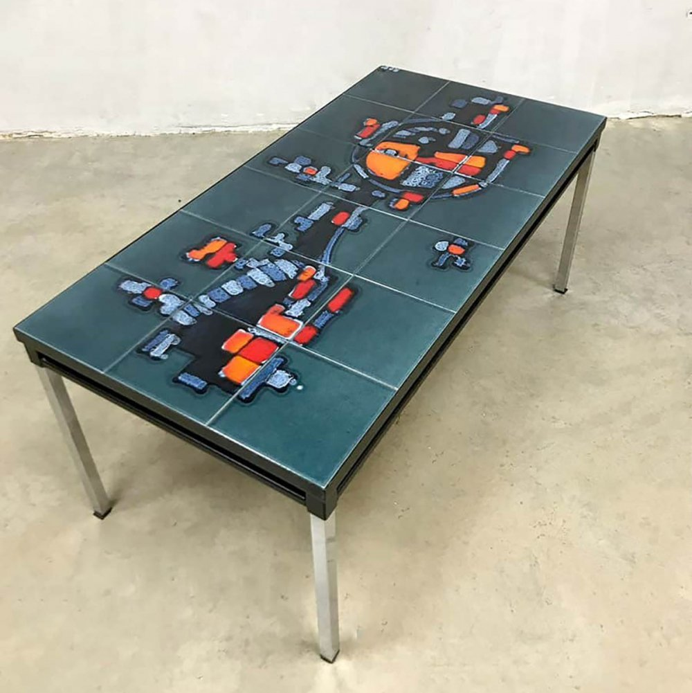 Vintage design tile coffee table by Adri