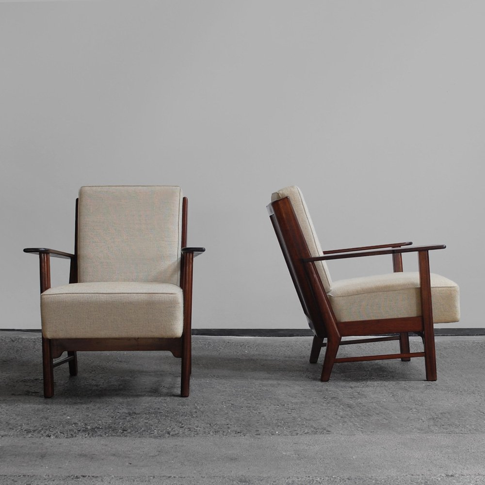 2 easy chairs, 1950s