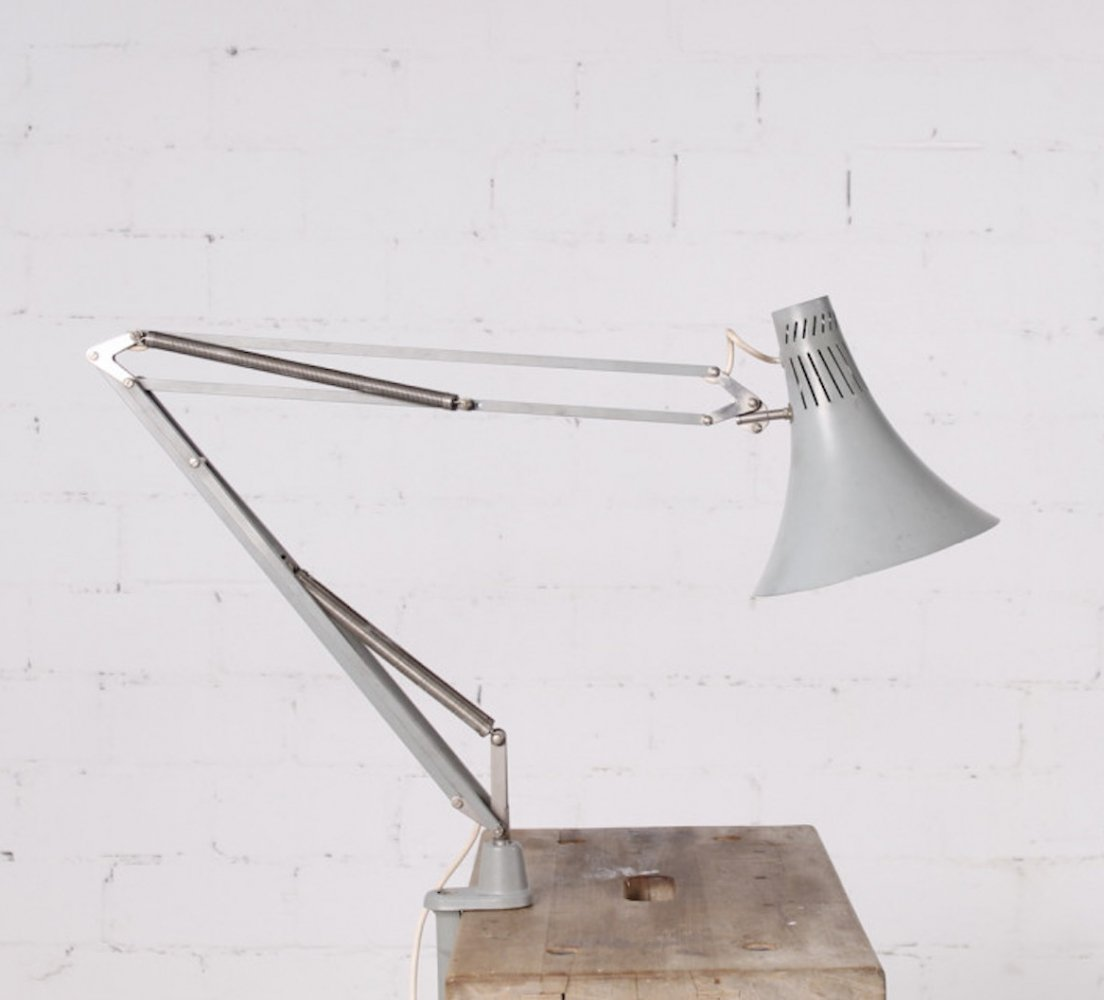 German industrial Lamp with Clamp, 1950s