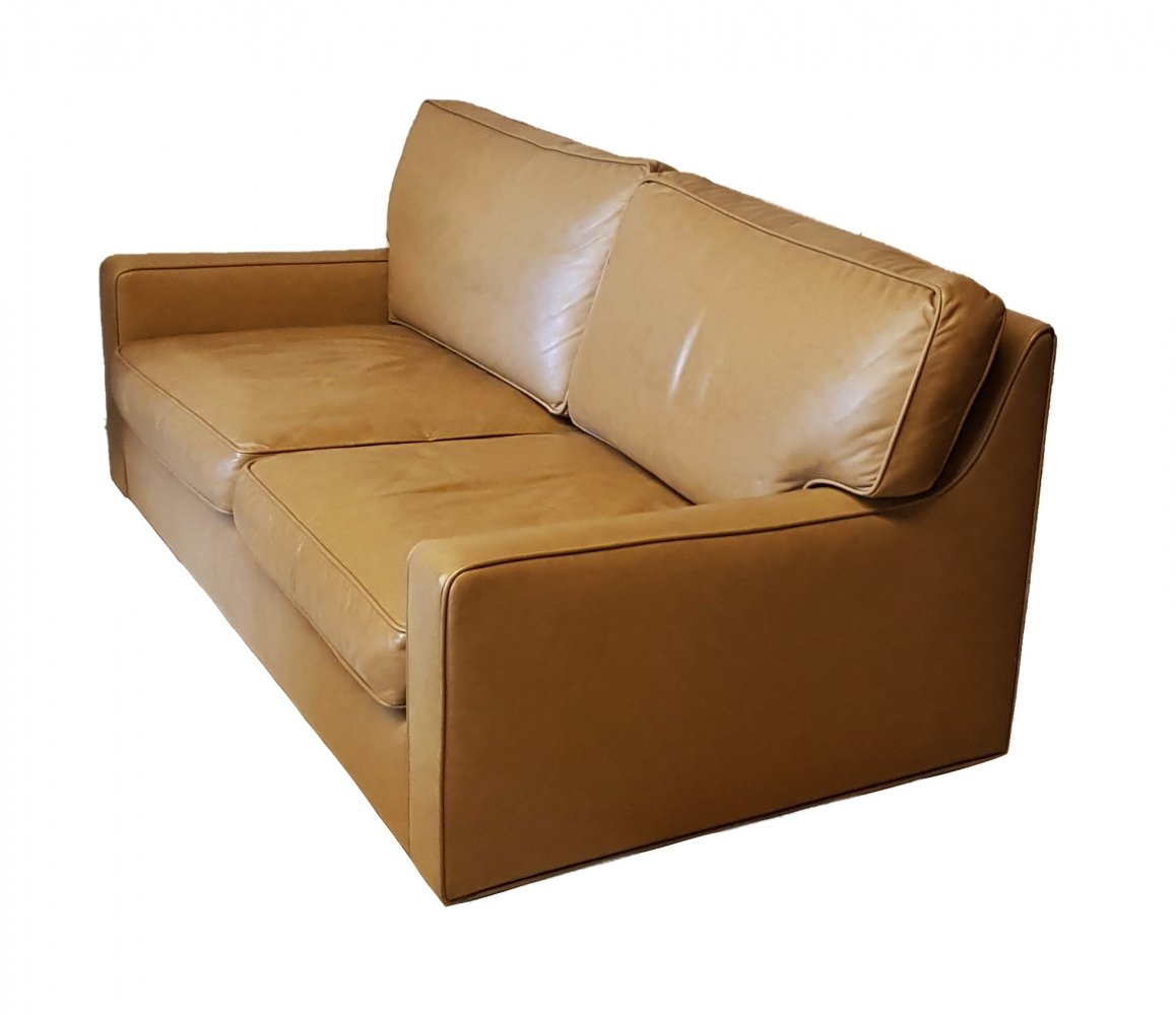 Hans Kaufeld 2 seater Leather Sofa