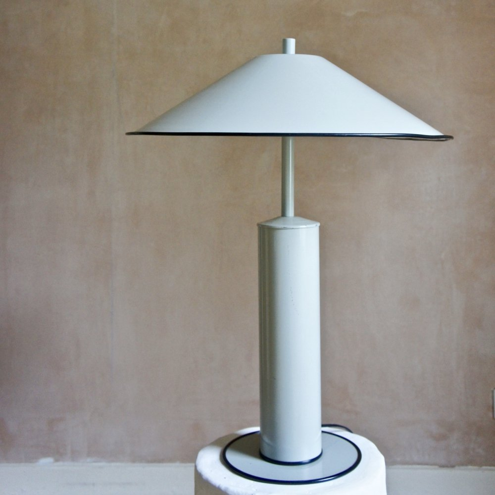 Large Dutch Modernist Metal Lamp, 1970