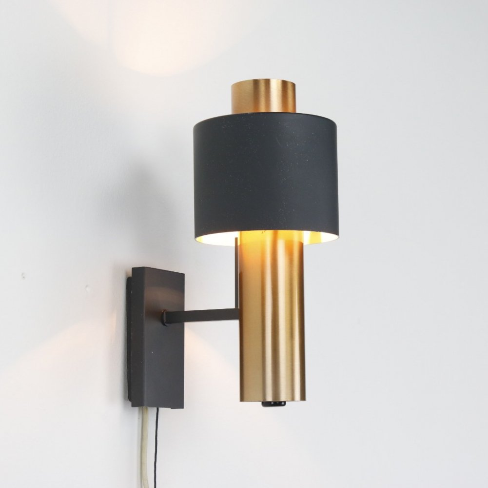 Copper wall light by Doria Leuchten, 1960s