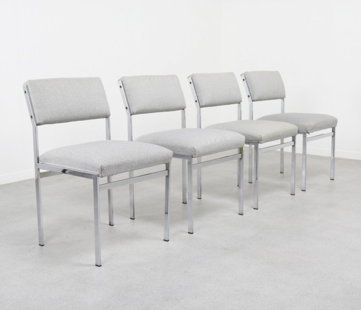 Set of 4 SM07 dining chairs by Cees Braakman for Pastoe, 1960s