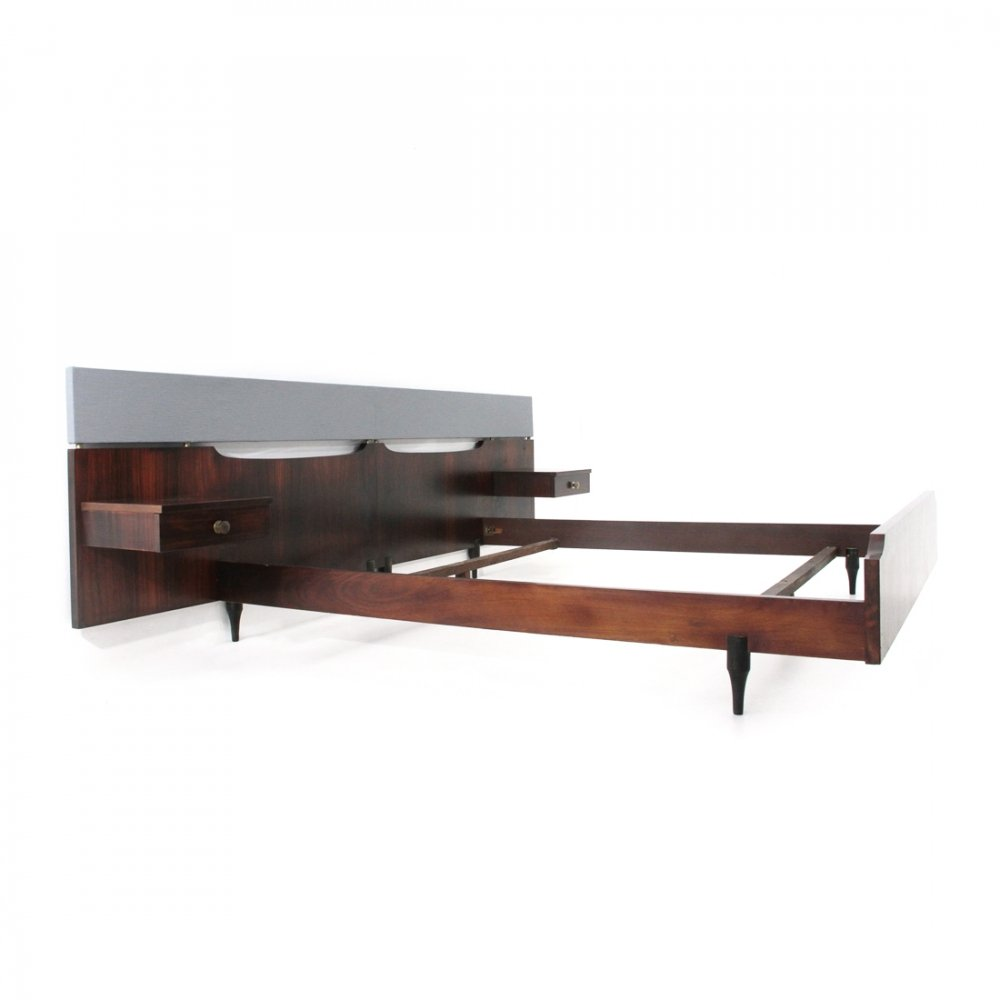 Midcentury Italian bed by Claudio Salocchi for Sormani, 1960s