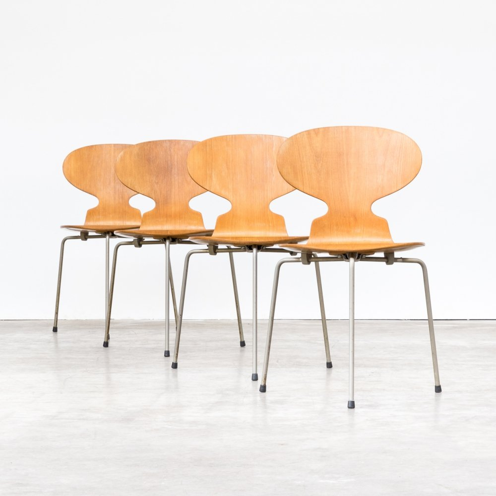 Set of 4 Arne Jacobsen plywood original