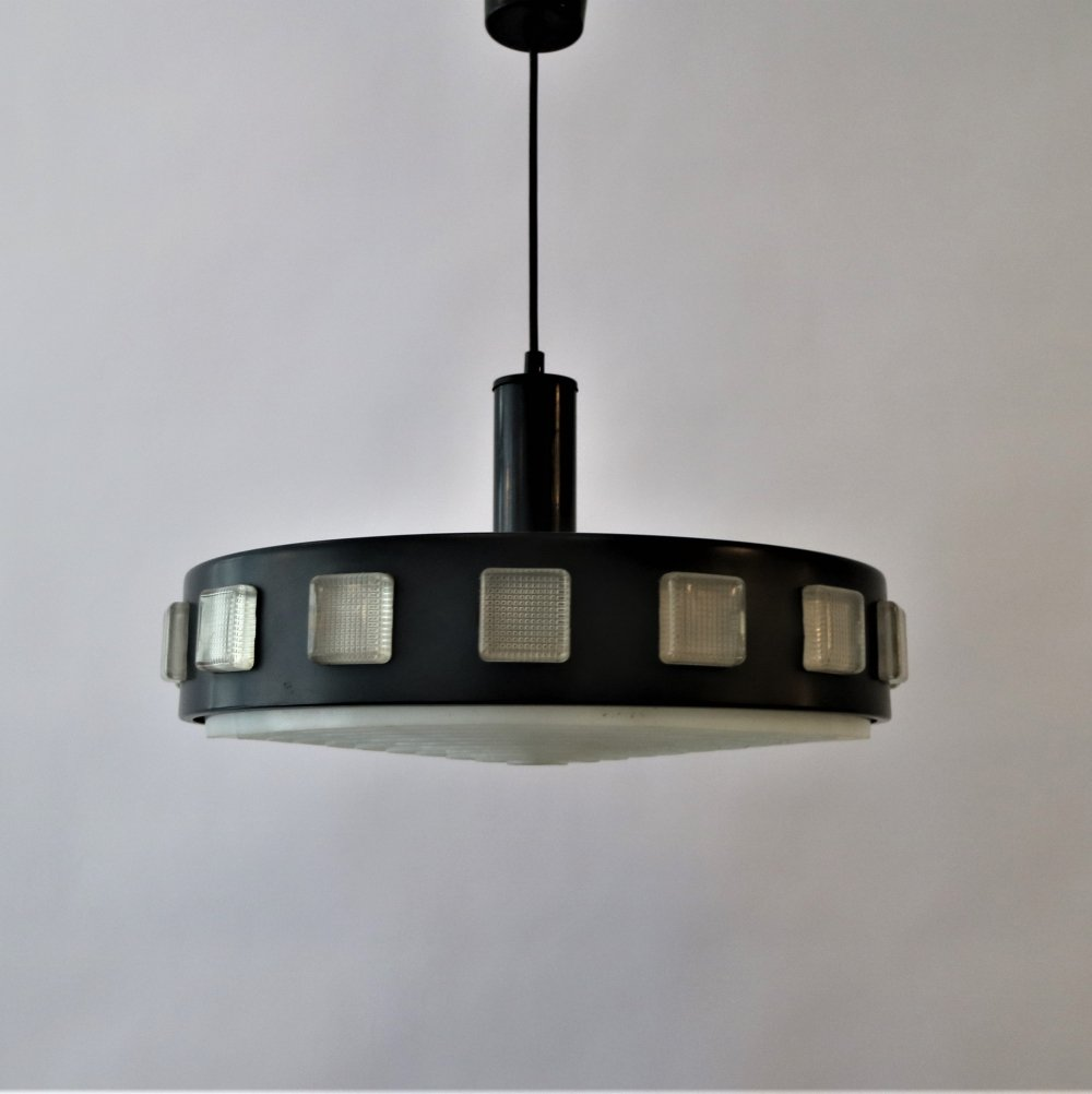 Black Philips hanging lamp, 1950s